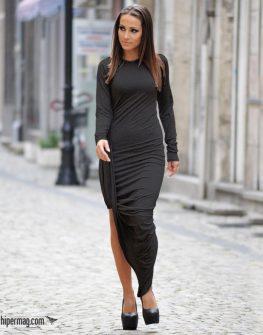 Дълга черна рокля La Speciale