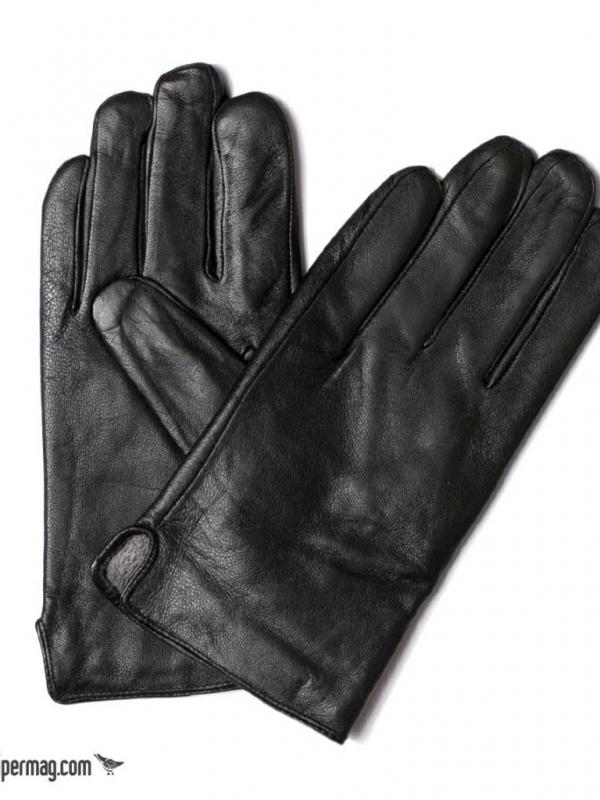 Черни мъжки кожени ръкавици