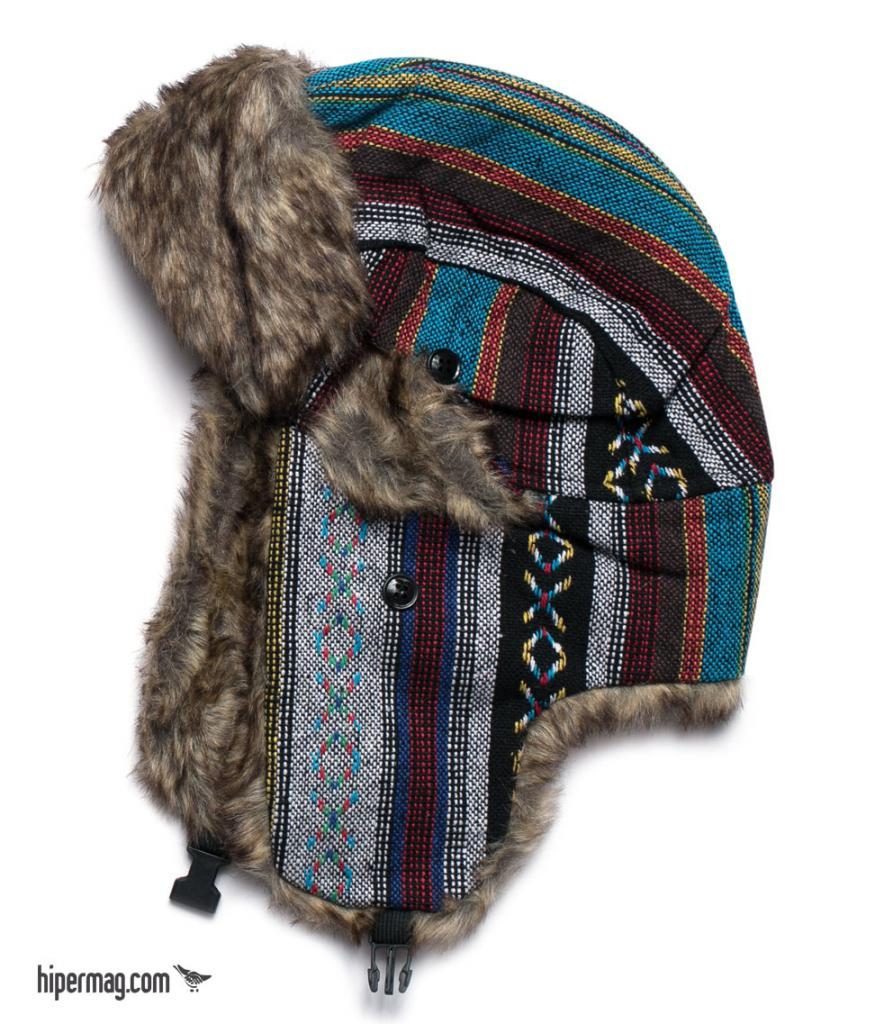 Ефектна шапка ушанка Styler