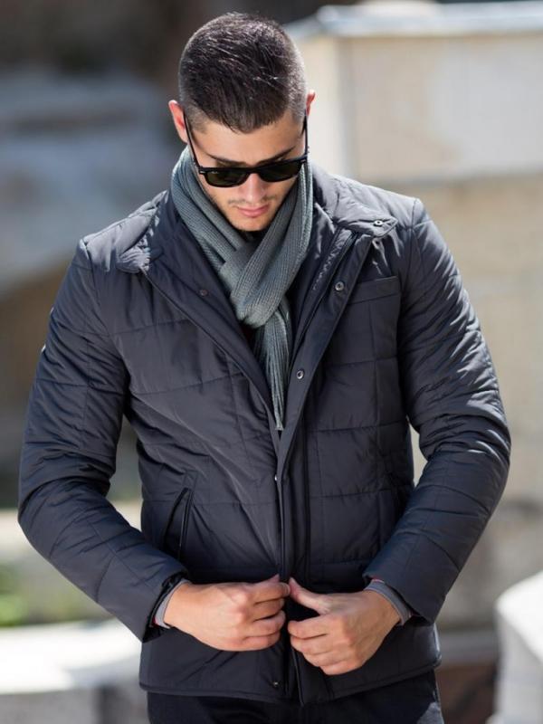 Мъжки шал Styler в сиво