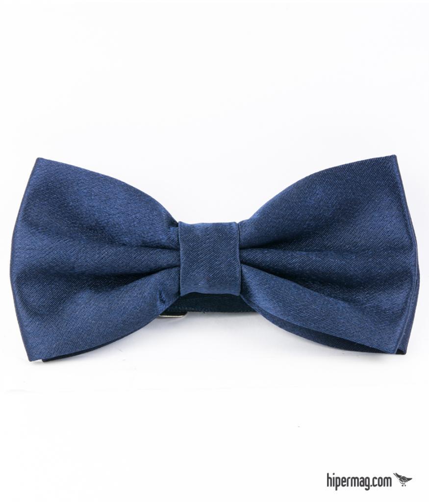 Стилна мъжка папийонка в тъмно синьо New Style