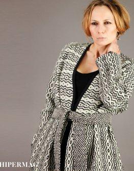 Топло дамско палто в сиво AGGATA