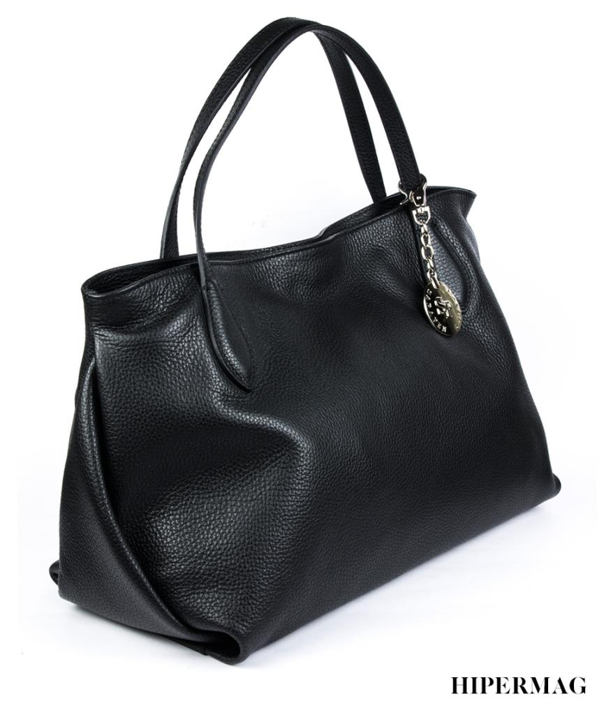 Елегантна дамска чанта Sara Pen в черен цвят