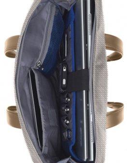 """Дамска бизнес чанта Samsonite 14.1"""" S-OULITE в сив цвят"""