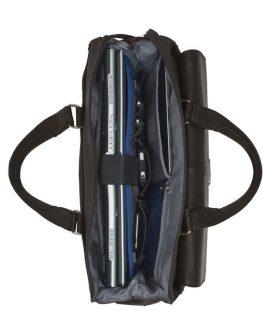 "Кафява Samsonite S-OULITE дамска бизнес чанта 15.6"""