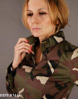 Дамско късо милитъри яке AGGATA