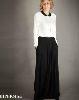 Дамска дълга пола в черен цвят AGGATA