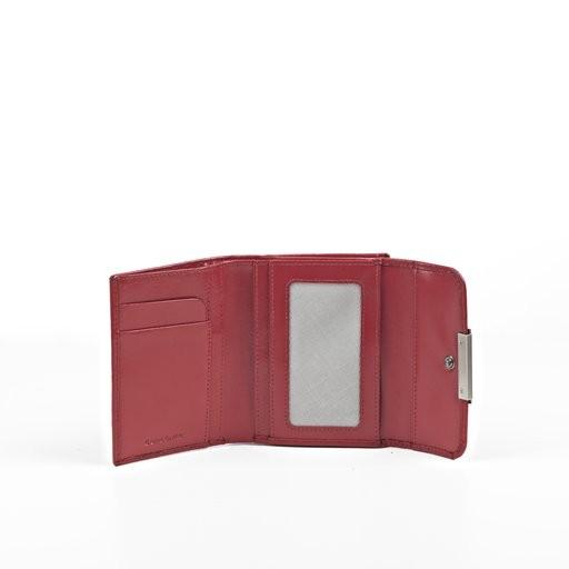 Дамски черен портфейл от естествена кожа с отделения за карти Samsonite