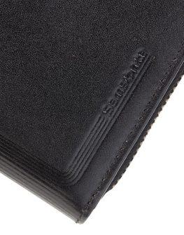 Samsonite - черен дамски портфейл от естествена кожа с 4 отделения за карти