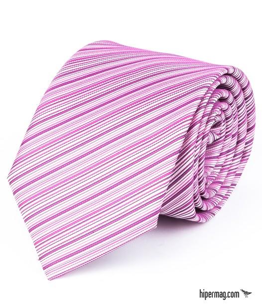 Стилна мъжка вратовръзка в розов цвят New Style