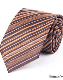 Стилна мъжка вратовръзка в оранжев цвят New Style