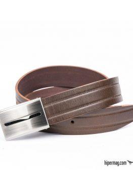Стилен мъжки колан в кафяв цвят Styler