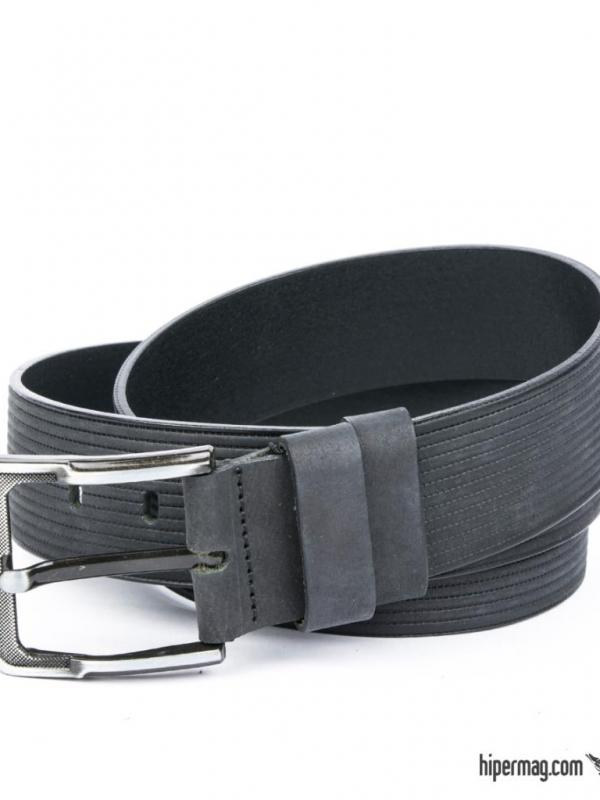 Елегантен мъжки колан Styler в черен цвят