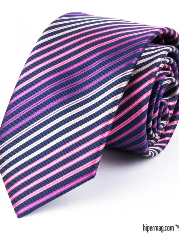 Мъжка вратовръзка в тъмно син цвят New Style