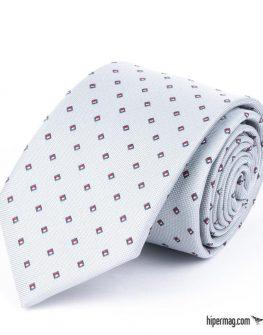 Стилна мъжка вратовръзка в сив цвят New Style