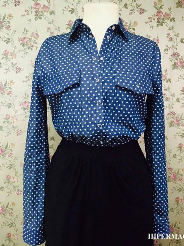 Дизайнерска дънкова риза Aggata