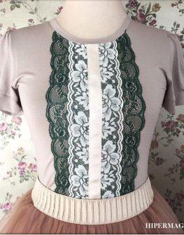 Дизайнерска тениска с дантели Aggata