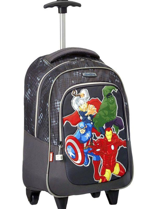 Ученичека раница с колелца Avengers