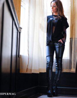 Екстравагантна туника с тока La Speciale + мрежеста блуза