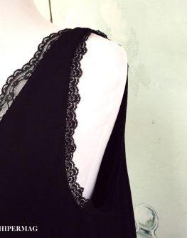Стилна рокля с дантели AGGATA