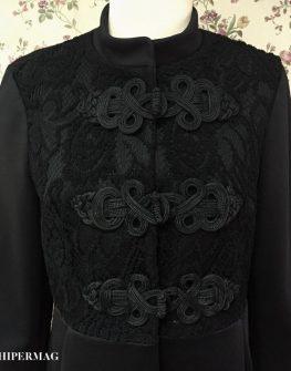 Дамско палто с декоративни закопчалки AGGATA