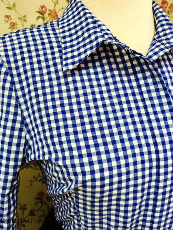 Синя дизайнерска риза AGGATA