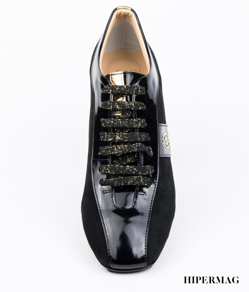 Дамски черни обувки със скрит ток Sara Pen