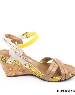 Дамски сандали в бежово Cravo & Сanela