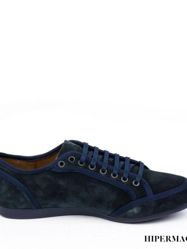 Мъжки велурени обувки в синьо Sara Pen