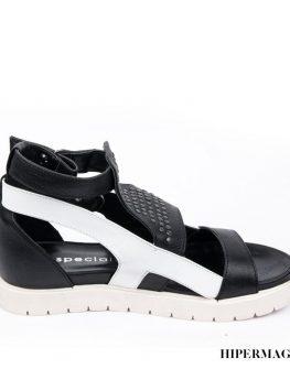 Дамски сандали в бяло и черно La Speciale