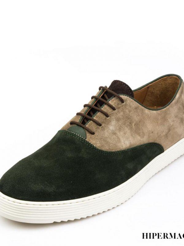 Мъжки обувки в зелено и бежово Sara Pen