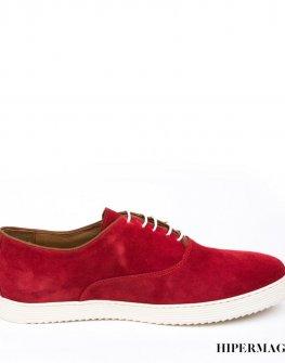 Мъжки спортно - елегантни обувки в червен цвят Sara Pen