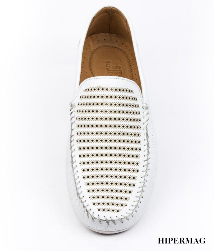 Мъжки ежедневни обувки в бяло Sara Pen
