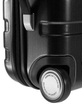 Черен твърд куфар - 55 см American tourister