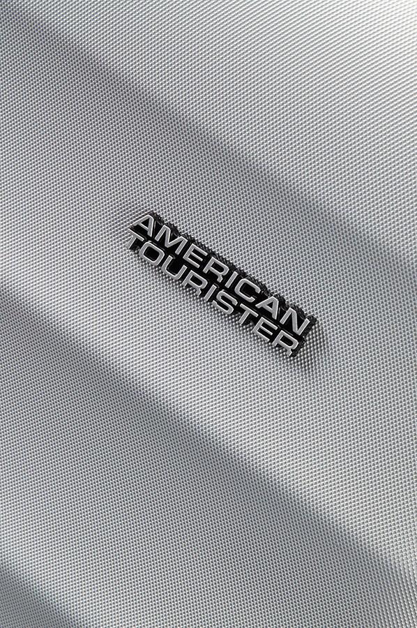 Сребрист куфар American tourister - 77см
