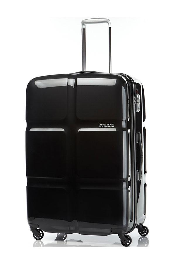 Черен куфар на 4 колела American tourister