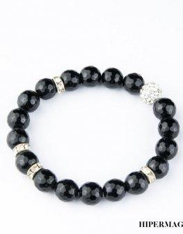 Гривна с черни камъни