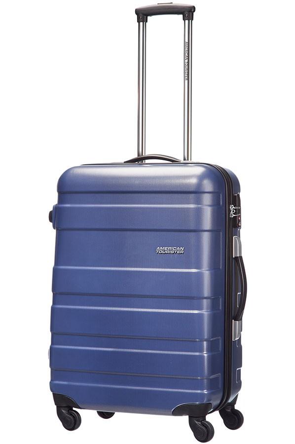 Куфар на 4 колела в син цвят American tourister