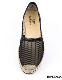 Ниски дамски обувки – черна мрежа Sara Pen