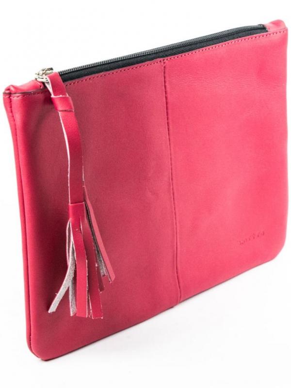 Дамска чанта тип плик в червено Kotyto