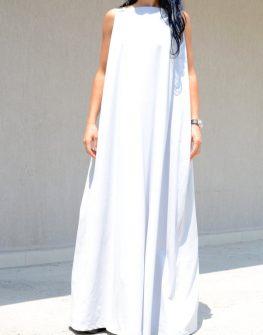 Светлосива рокля Kotyto