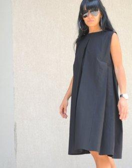 Елегантна черна рокля Kotyto
