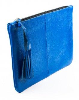 Дамска чанта тип плик в синьо Kotyto