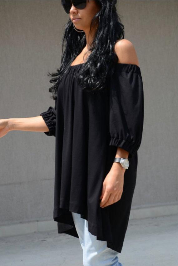 Дизайнерска блуза в черно Kotyto