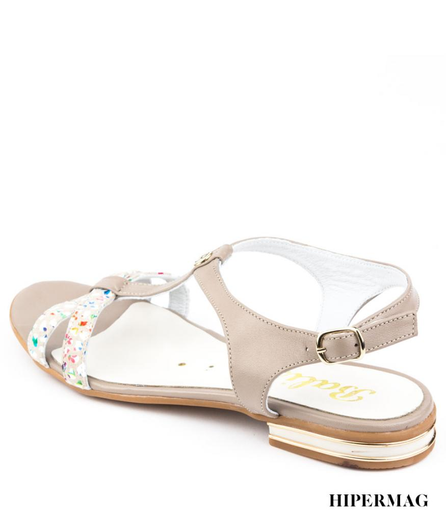 Бежови сандали с цветни акценти Balis