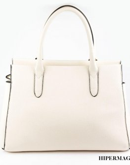 Дамка чанта в бял цвят SARA PEN