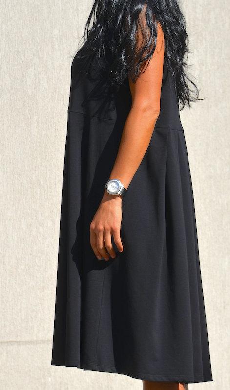 Черна рокля без ръкав Kotyto