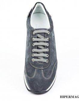 Мъжки велурени обувки SARA PEN в сиво
