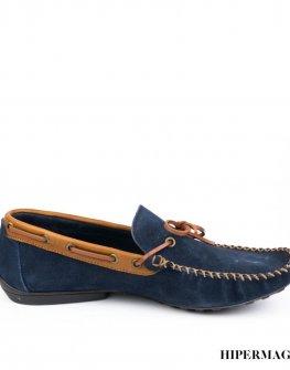 Мъжки велурени обувки в тъмносиньо Sara Pen