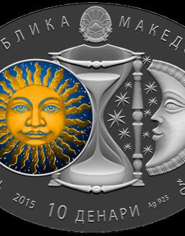 """Сребърна монета """"Зодиакални знаци – Близнаци"""""""